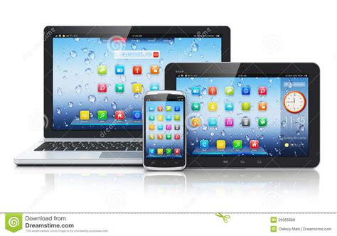 mobile tablet pc laptop tablet pc and smartphone royalty free stock photos