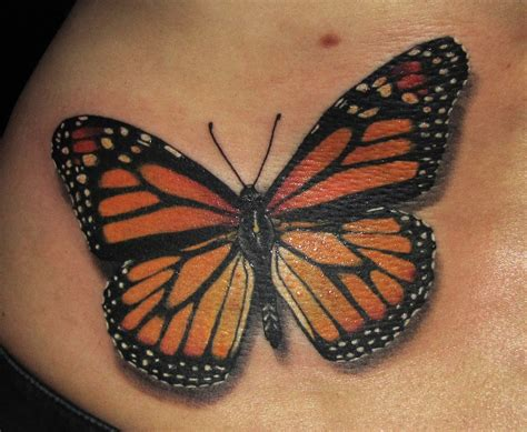 orange tattoo orange butterfly tattoos