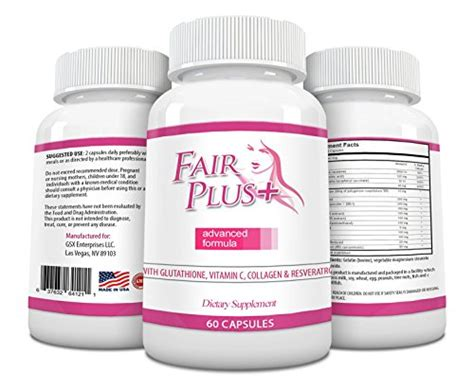 Gluta Green from usa fairplus skin whitening pills advanced formula for fair and beautiful skin with
