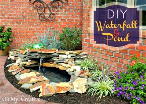 how to make a diy backyard pond landscape water feature