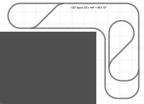 track layout definition evolving a long narrow o27 layout for limited space o