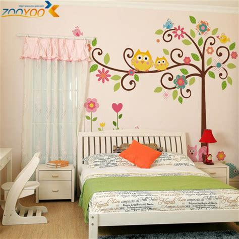 wall decals for kids bedrooms owl wall stickers for kids room decorations animal decals