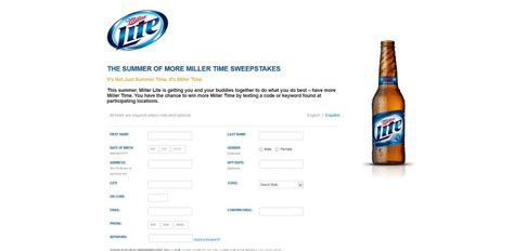 Phone Time Sweepstakes - millerlite com summertimeismillertime summer of more miller time sweepstakes