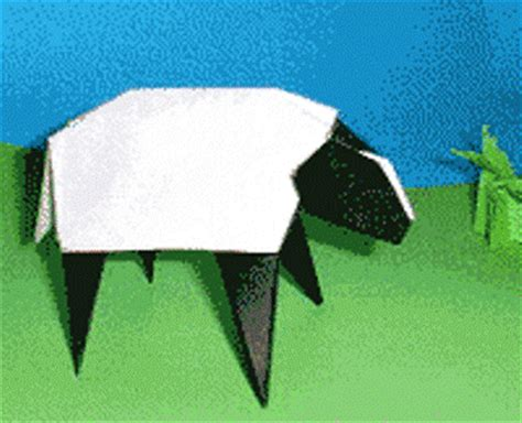 3d Origami Sheep - origami sheep 3d origami step by step