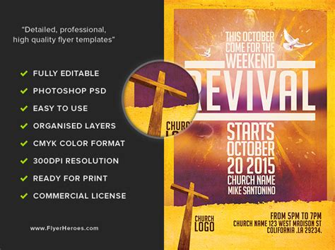 church revival flyer template free church revival flyer template flyerheroes