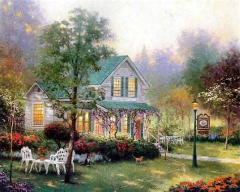 kinkade cottage kincade home living cottages of a tribute