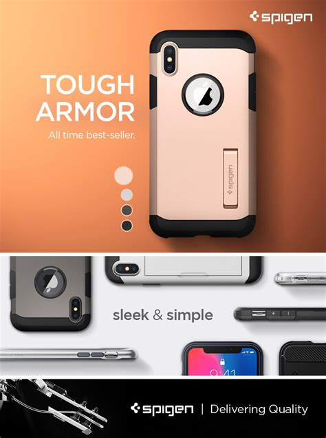 Spigen Tough Armor Apple Iphone X Blush Gold spigen 174 tough armor 057cs22162 iphone x blush gold spaceboy