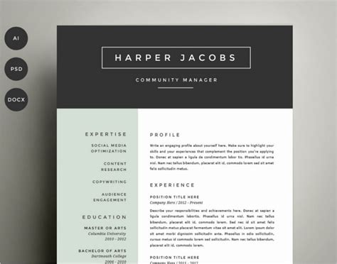 professional resume template psd 11 best resume templates psd free design templates