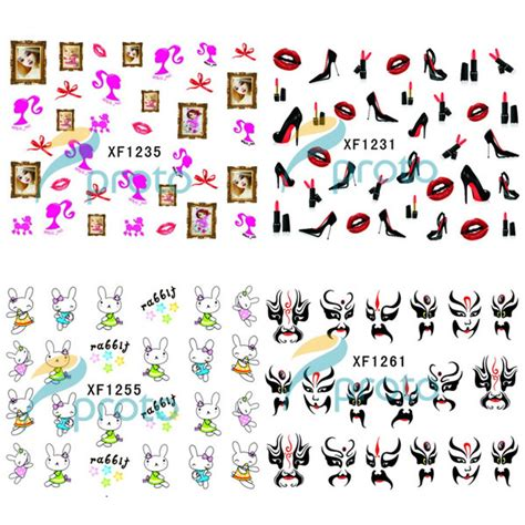 Nail Sticker Water Decal Stiker Kuku Nail 32 aliexpress buy 100pcs lot water transfer