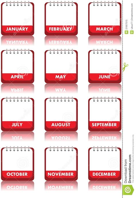Sell Calendar Photos Blank Calendar Royalty Free Stock Photo Image 21957515