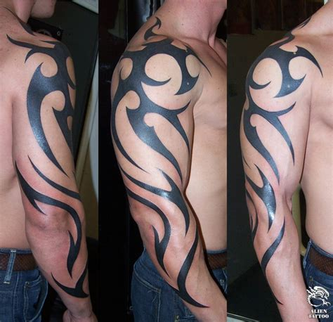 tribal tattoos on shoulder and arm design tribal shoulder