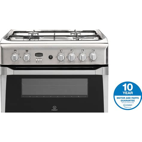 Oven Gas Stainless Uk 120 indesit id60g2x 60cm freestanding oven gas cooker in stainless steel