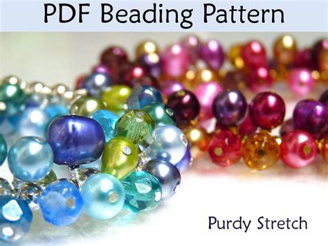 beading tutorial pattern bracelet work work stretch