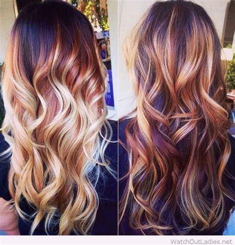 hair colour of 2015 brown hair color trends balayage and blonde highlights