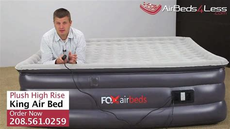 new raised king air bed by fox airbeds plush high rise king air mattress