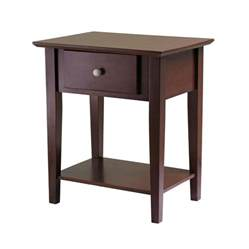 night table amazon com winsome wood shaker night stand antique