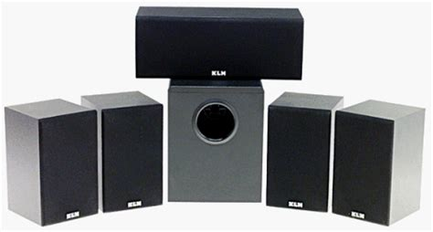 klh 9000b 5 1 home theater speaker system subwoofer 2 way