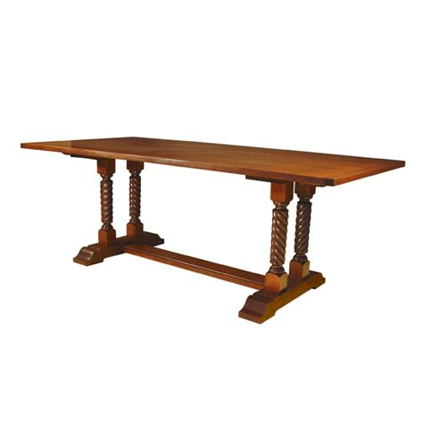 Trestle Legs For Dining Table D R Dimes Turning Trestle W Rope Twist Legs Dining Tables Trestle Tables