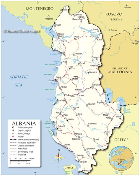 albania political map political map of albania nations project
