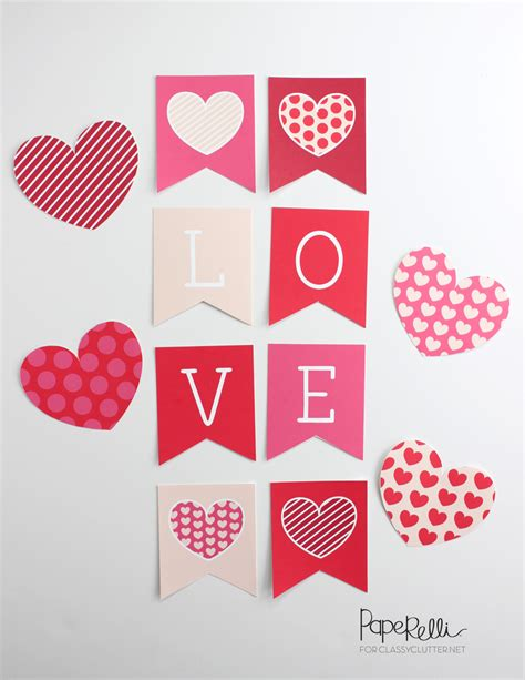banner design love fun valentines day printables classy clutter