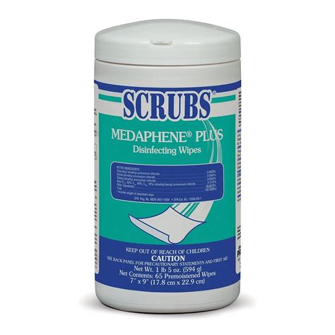 scrubs medaphene  disinfectant wipes     wipe canisters case