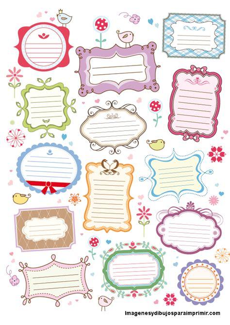 etiquetas para poner nombre a los cuadernos colorear etiquetas para poner nombre a los cuadernos colorear