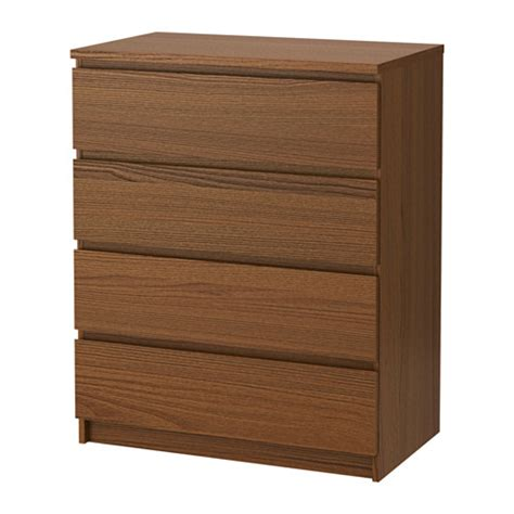 malm 4 drawer chest brown stained ash veneer ikea