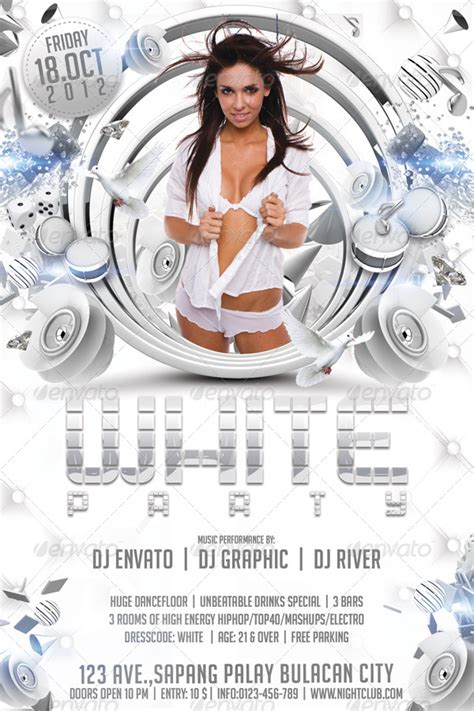 template flyer white party white party flyer template by hermz graphicriver
