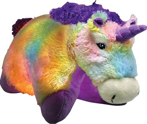light up unicorn pillow pet new glow pets magical unicorn colourful light up cuddly
