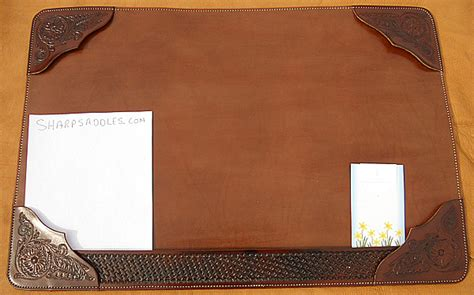 leather desk mat australia custom usa leather desk mat hand tooled heavy duty suede