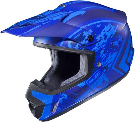 motocross bike helmets hjc cs mx ii squad mc 2f matte blue d o t atv offroad