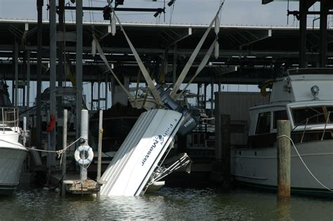 boat lift with straps damaged boats photos press room boatus