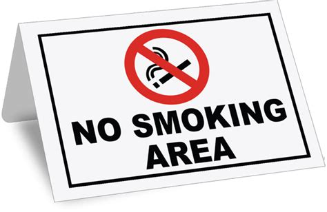 no smoking sign with stand no smoking area stand up tent by safetysign com r5330