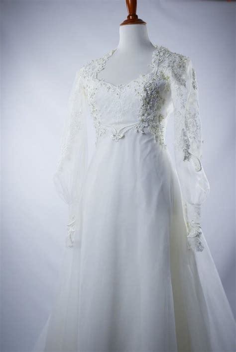 Discount Empire Wedding Dresses by Discount Empire Waist Vintage Style Wedding Dress