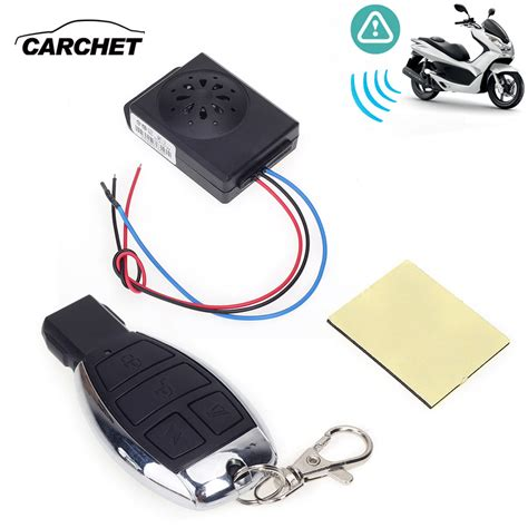 Alarm Motor Mp 2 Way carchet motorcycle anti theft security alarm system with remote dc 12v motorbike bike