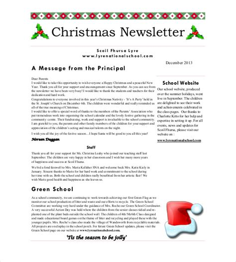 christmas newsletter template 8 psd pdf formats