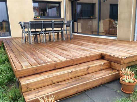 Oranke Terrassen terrasse bois orange wraste