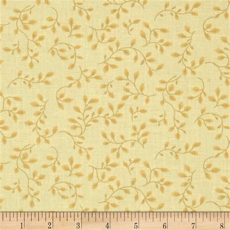 Pale Yellow Pattern Fabric | 108 wide quilt backing folio vines pale yellow