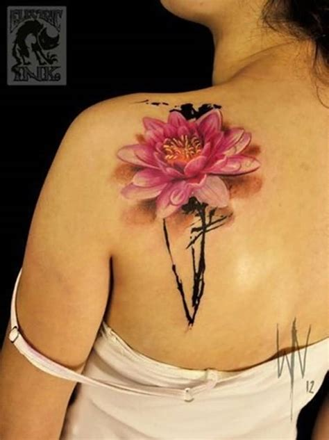 lotus flower tattoo on shoulder 44 japanese lotus tattoos collection