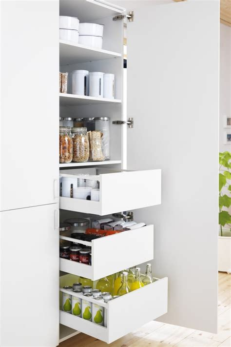 Ikea Kitchen Storage Cabinets Slide Out Kitchen Pantry Drawers Inspiration The Inspired Room