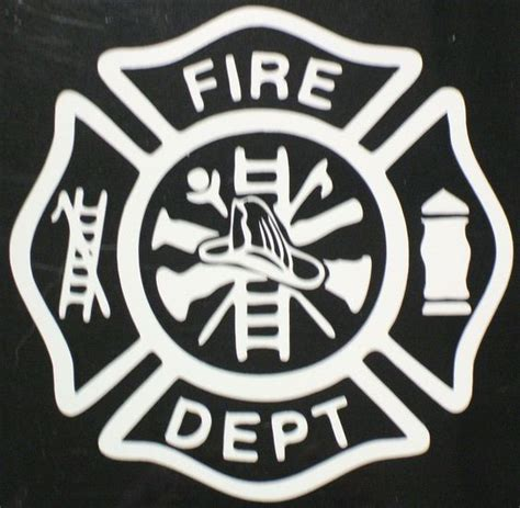 maltese cross fire fighter maltese cross vinyl