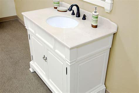 42 bellaterra home bathroom vanity 205042 wh bathroom