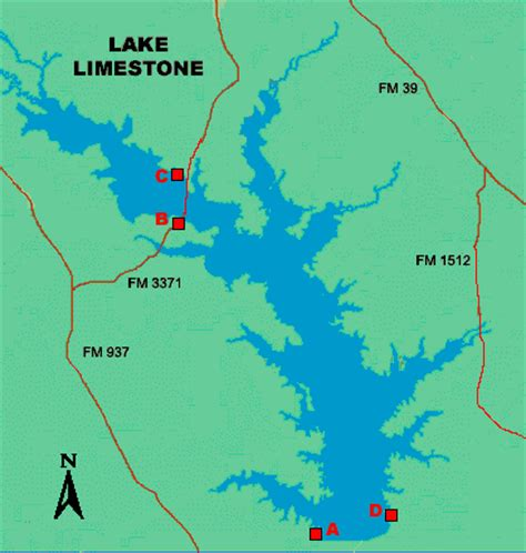 texas cgrounds map lake limestone access