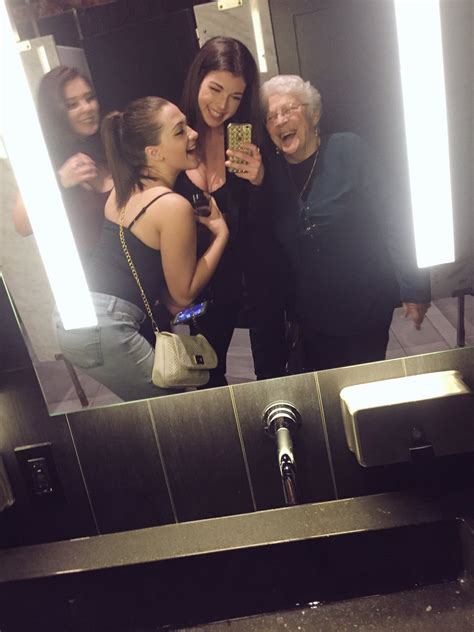 girls bathroom mirror this girls night out took an adorable turn when they had