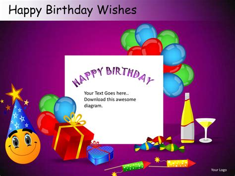 Powerpoint Template For Birthday Card by Happy Birthday Wishes Powerpoint Presentation Templates