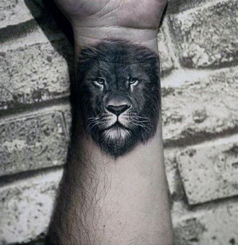 leo tattoos on wrist wrist and forearm mens white and grey ink tattoos