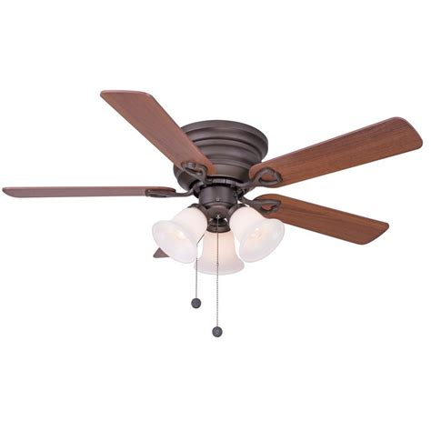 rubbed bronze ceiling fan light kit clarkston 44 in indoor rubbed bronze ceiling fan with