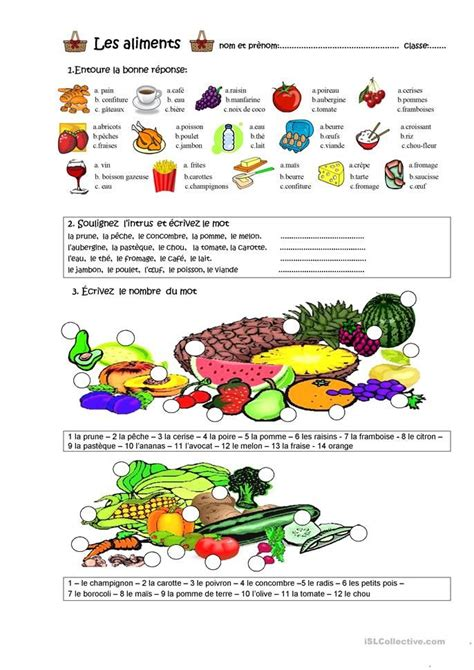 alimentos franceses les aliments french pinterest franceses idioma