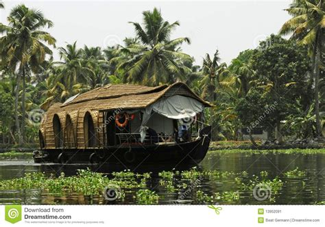 kerala india boat house house boat in kerala india stock image image 13952091