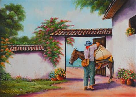 cuadros artesanales cuadros artesanales paisajes colombianos pintura tipica